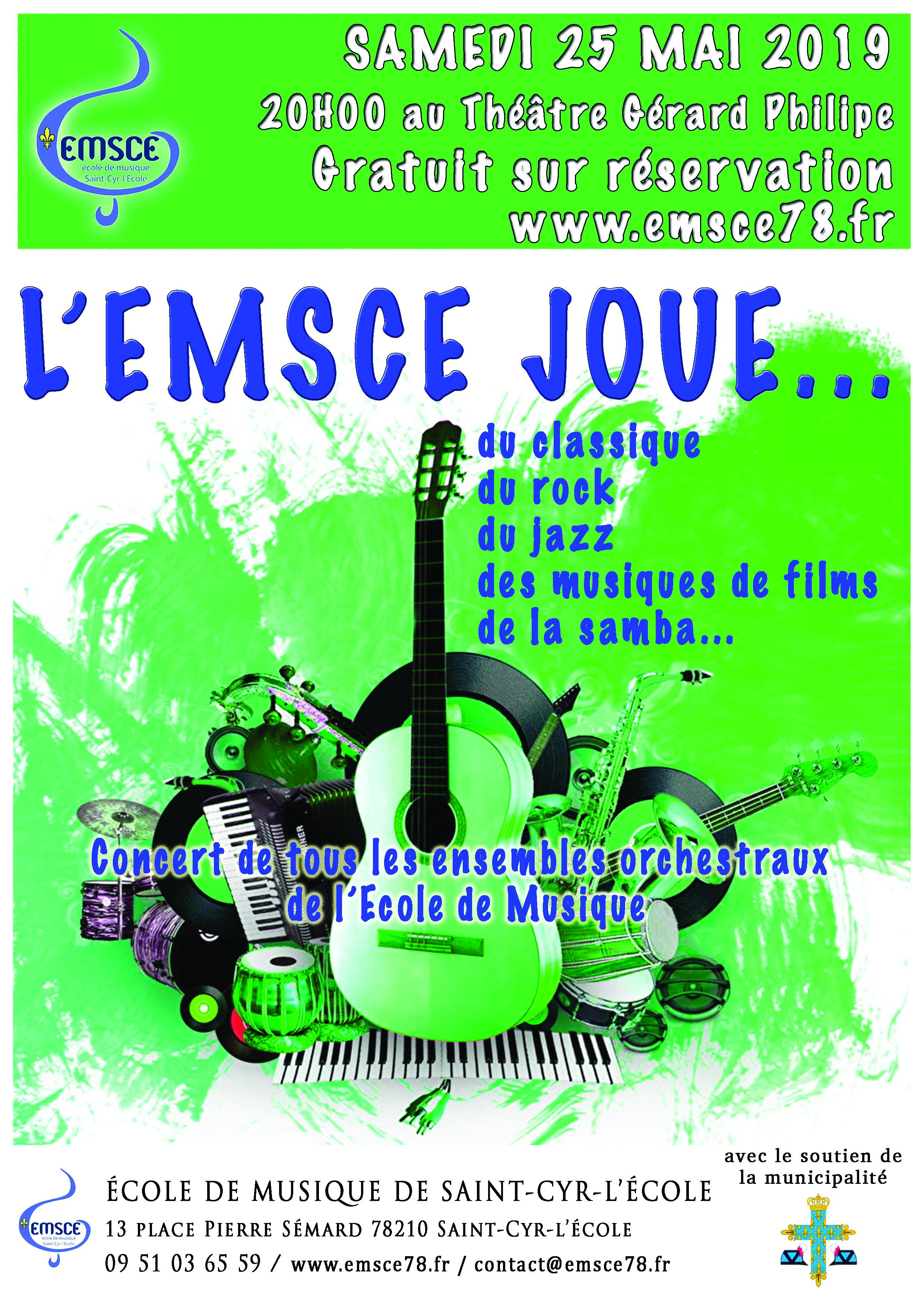 Concert annuel des Ensembles de l'école de musique de Saint-Cyr