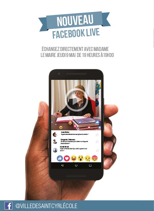 Facebook live de Madame le Maire
