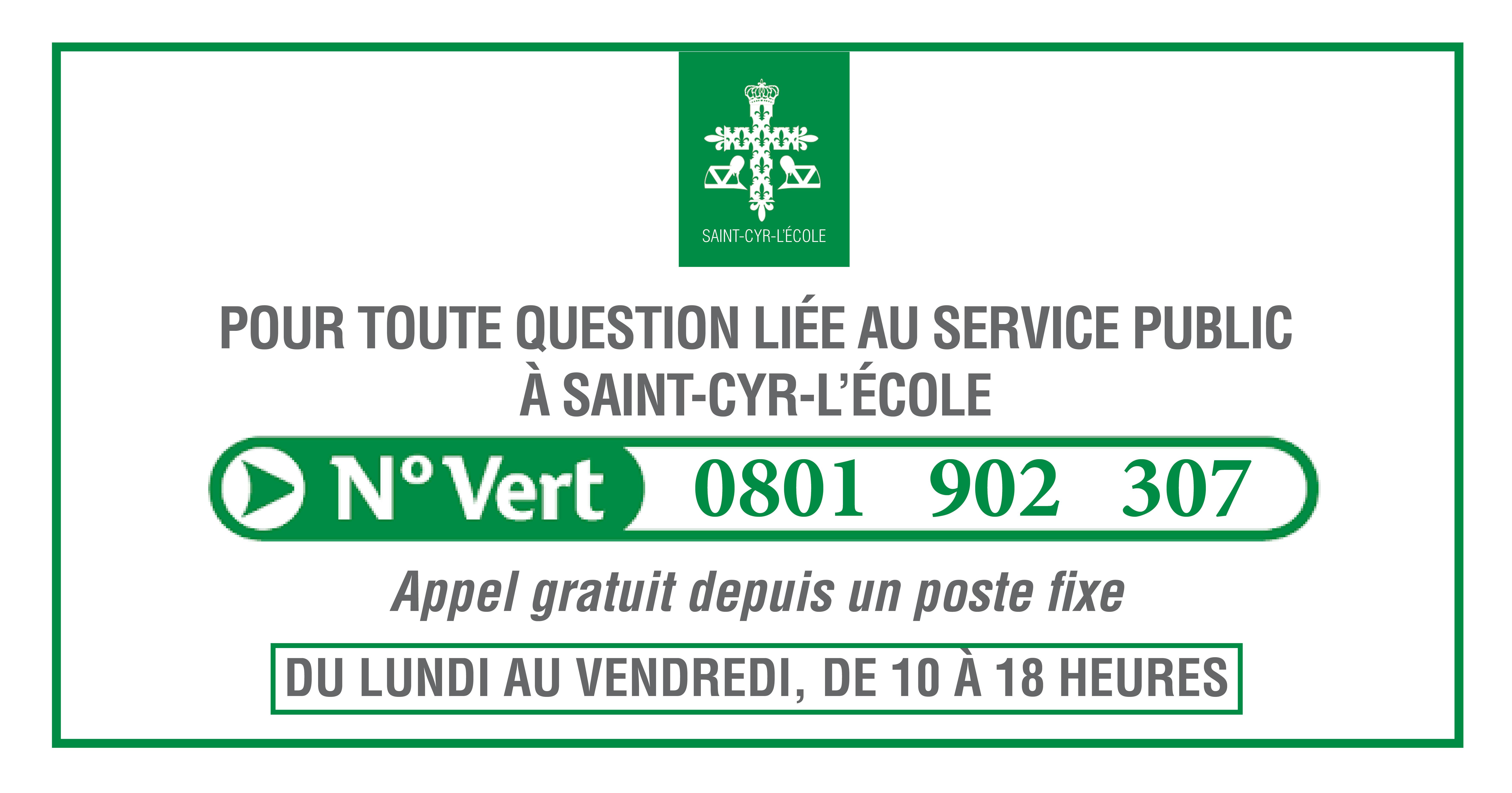 0801 902 307, le numéro vert du Service Public