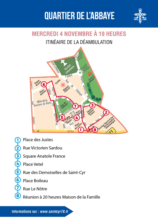 Quartier de l'Abbaye : 6e balade urbaine d'automne
